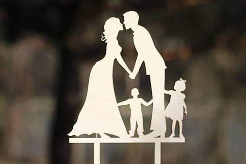 Svadobný zápich do torty – deti