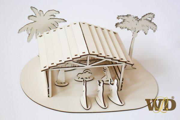 drevený betlehem
