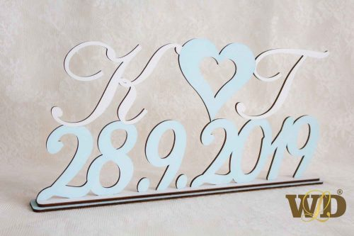 iniciálky s dátumom svadby