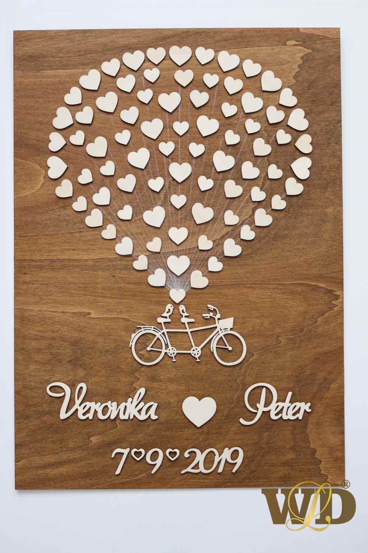 Svadobný bike 70 srdiečok