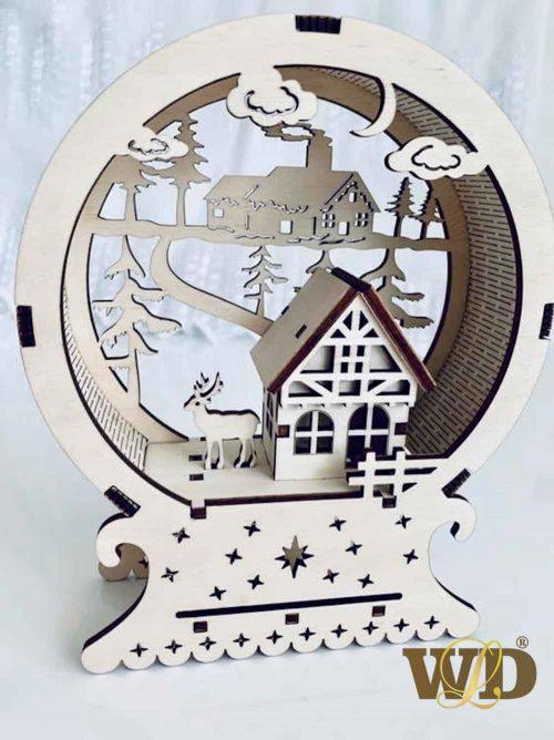 zimná krajina dekorácia