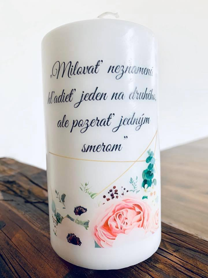 svadobná sviečka