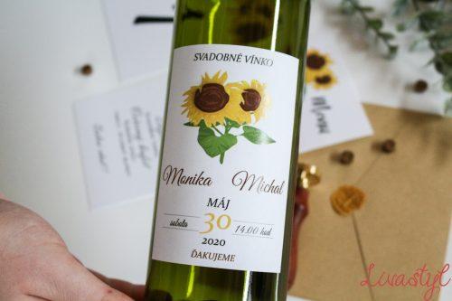 etikety na svadobné vínko