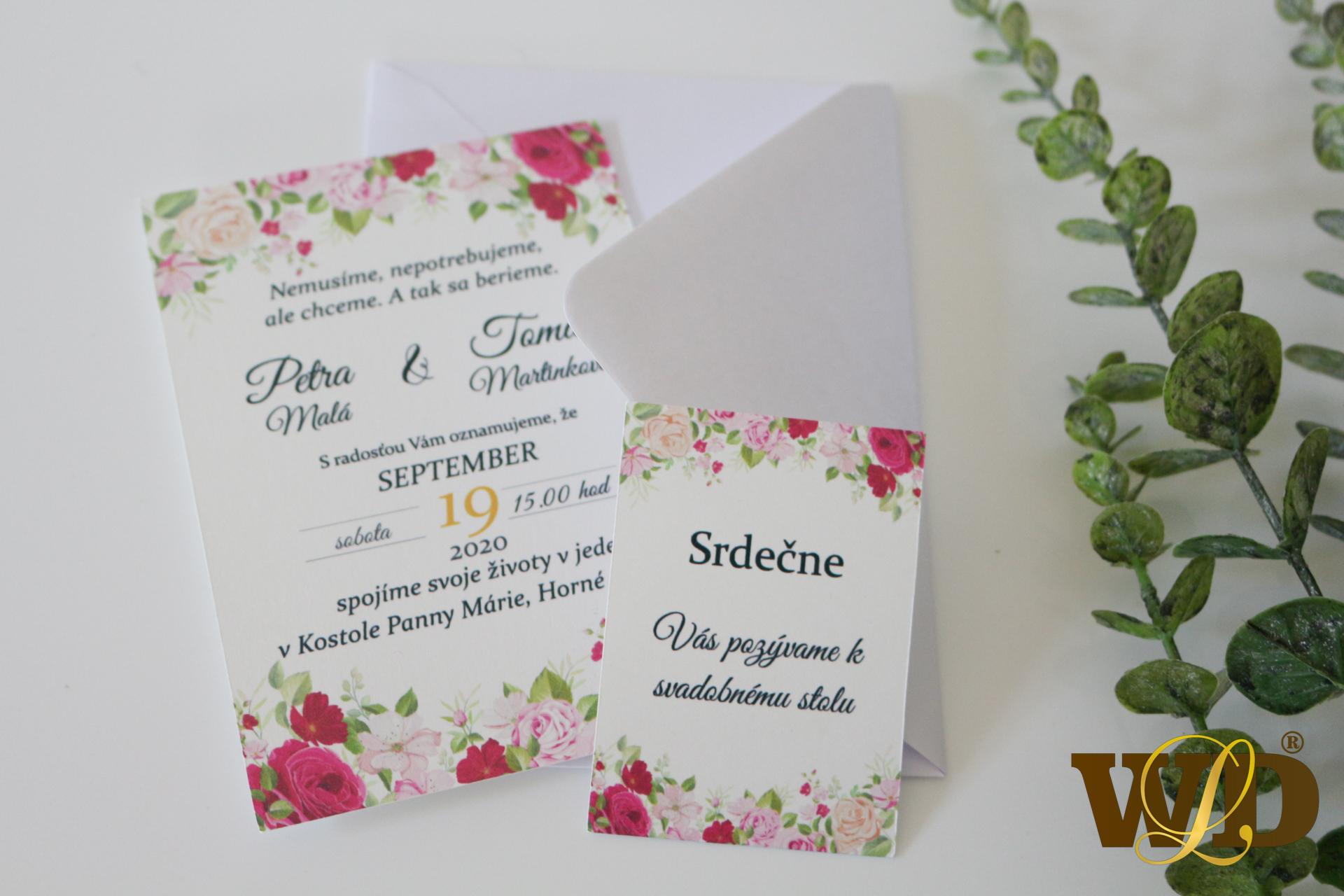 pozvánky k svadobnému stolu