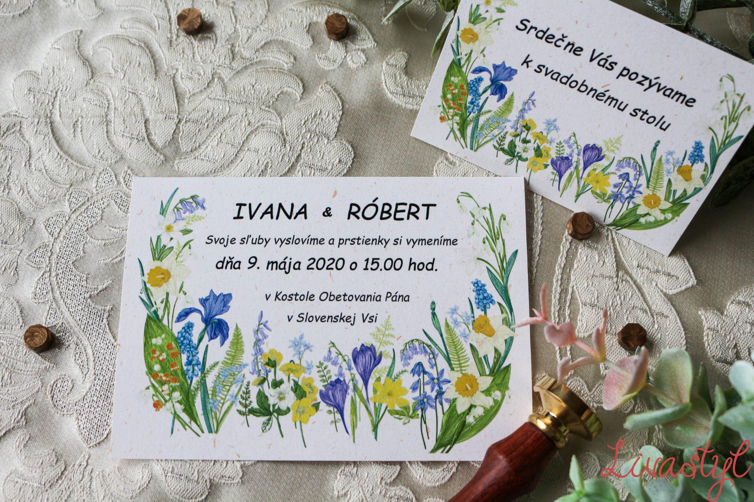 lúčne svadobné oznámenie