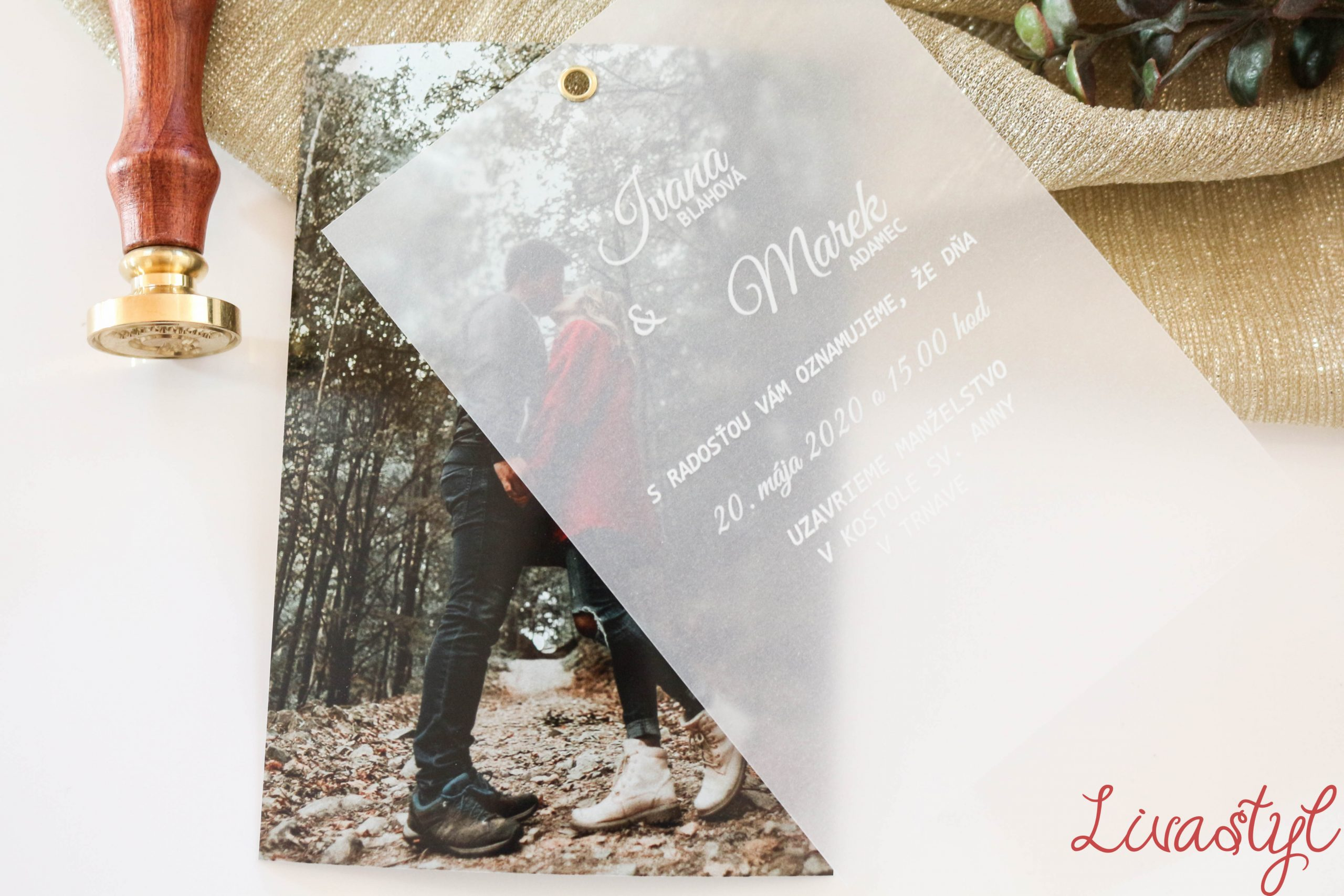 svadobné oznámenie s fotkou