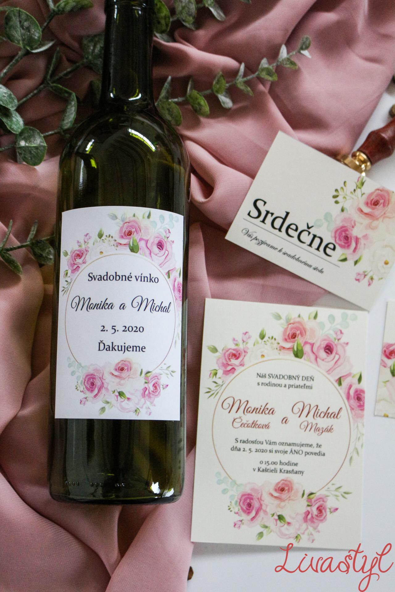 etiketa na svadobnú výslužku