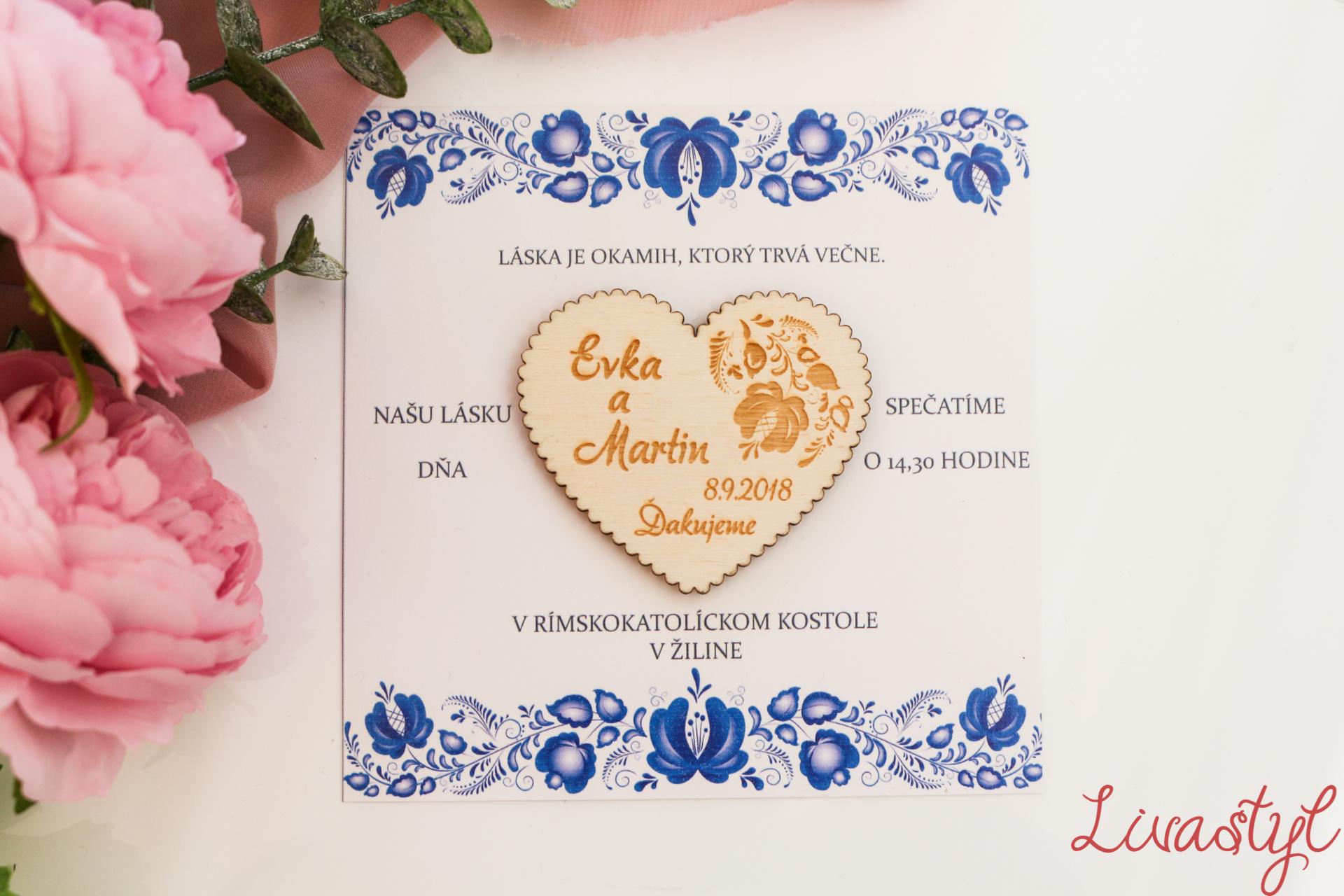 ludové svadobné oznámenie