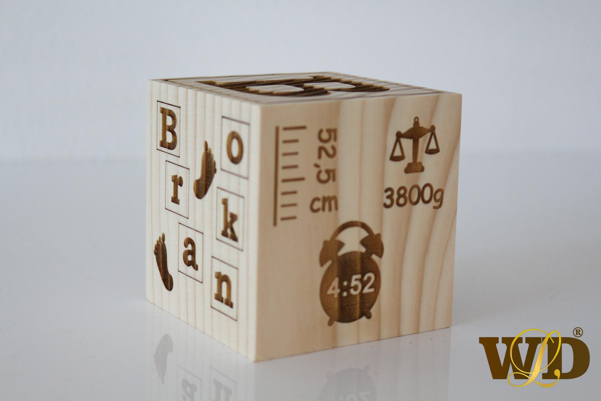 drevená kocka
