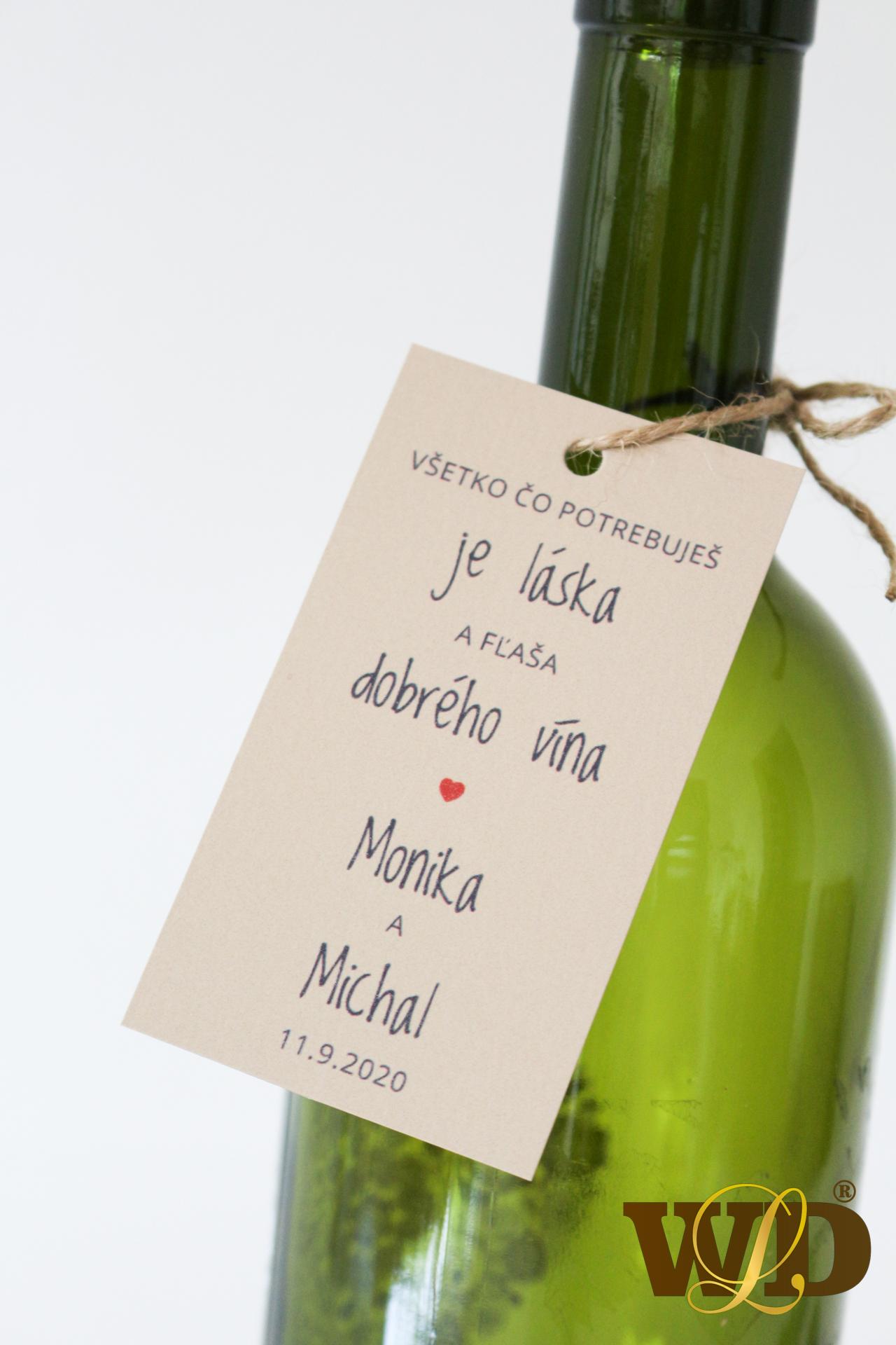 vísačka na víno