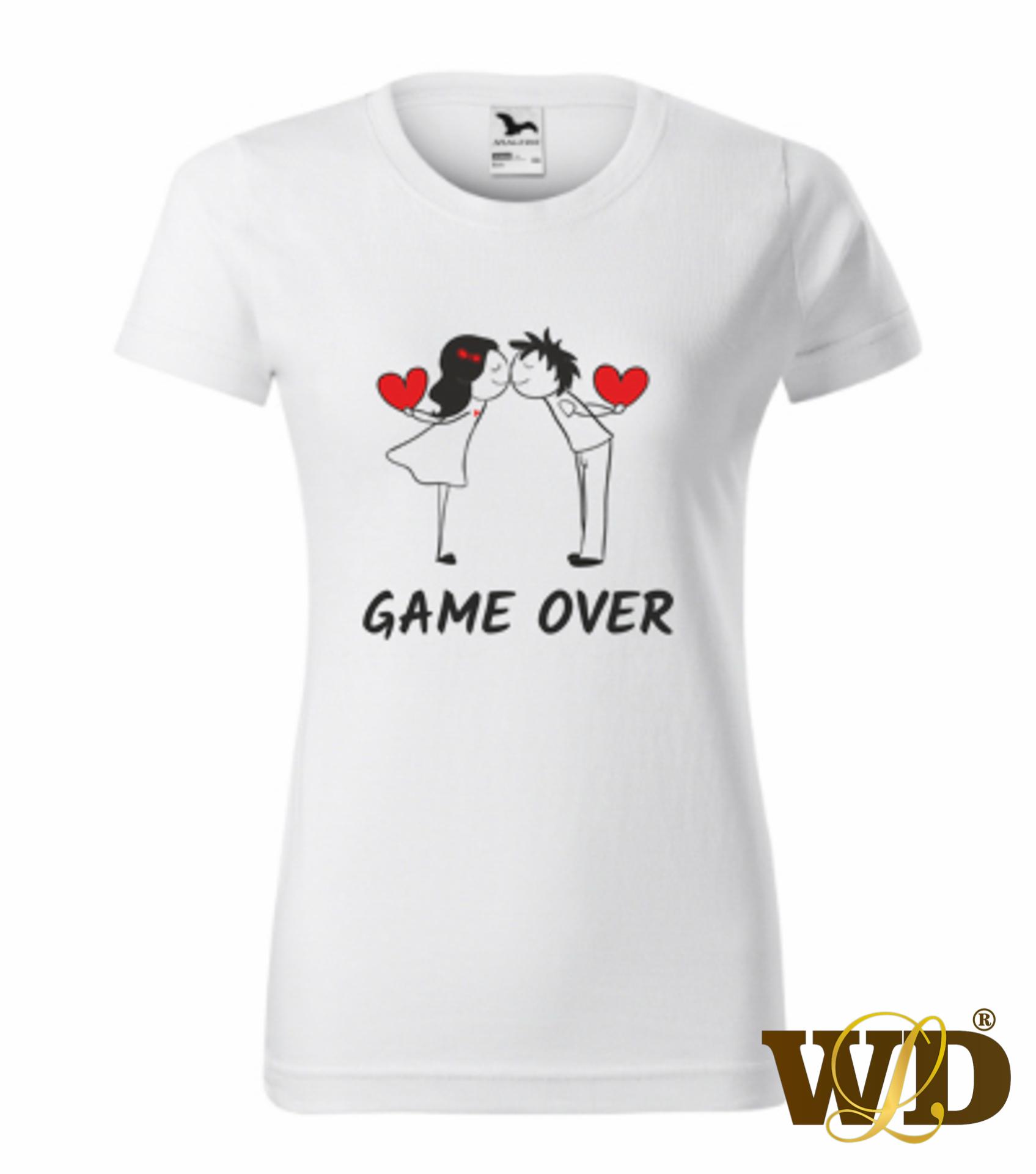 damske biele game over_