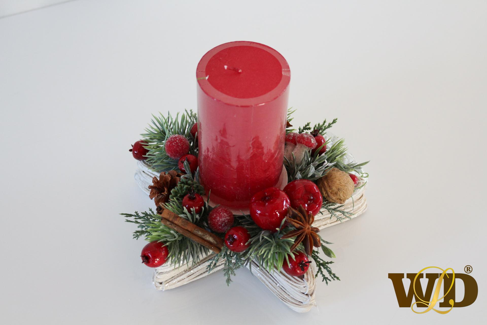 menšia vianočná dekorácia na stôl